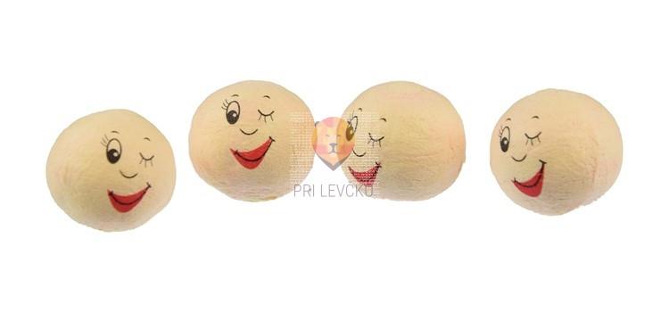 Vatne kroglice z nasmejanim in navihanim obrazom kožne barve 25mm 4 kosi