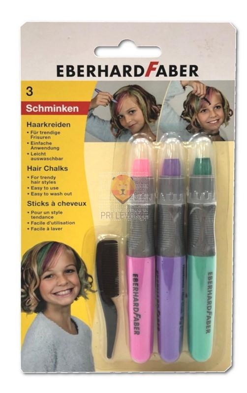 Voščenke za barvanje las: roza, zelena, vijola