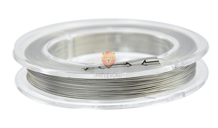 Najlonska žica platinaste barve 0,5mmx100 m