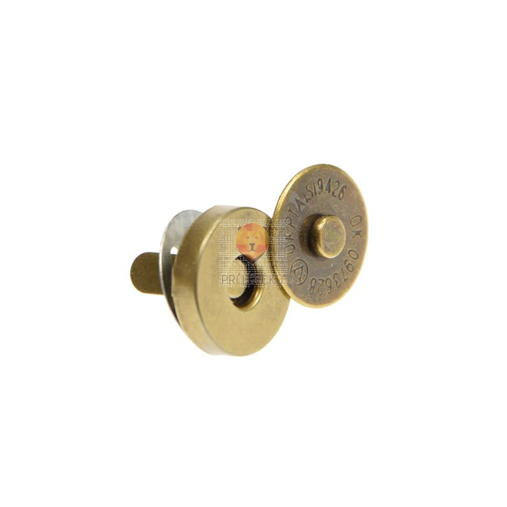 Magnetno zapiralo za torbico 14 mm, barva starega zlata, 1 komplet