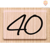 "Lesena štampiljka ""40"" 1 kos"