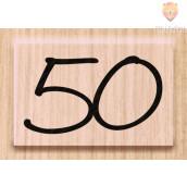 "Lesena štampiljka ""50"" 1 kos"