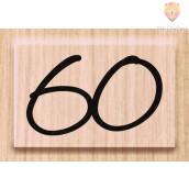 "Lesena štampiljka ""60"" 1 kos"