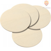 Leseni krogi 4 x 100 mm,  4 kos