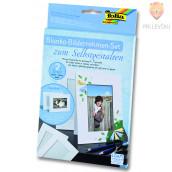 Set 2 kartonastih okvirjev za fotografije
