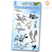 SIlikonske štampiljke - set Ptički