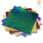 Origami papir svetleč - reliefni 14 cm x 14 cm