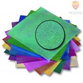 Origami papir svetleč - pikast vzorec 14 cm x 14 cm