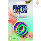 Fingertwist prstna igra z vrvico mavrična 160cm