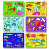 Set šablon Živalski svet 6 kosov
