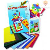 Set papirja v izgledu velurja barvni miks 23x33 cm 10 kosov
