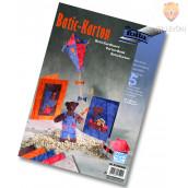 Batik karton, barvni miks, 220 g/m2, 5 kos