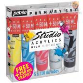 Primarni set akrilnih barv STUDIO ACRYLICS, 5 kos