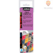 Set bisernih dekorativnih akrilnih barv P.BO DECO PEARL, 6 x 20 ml