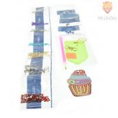 Obesek za ključe s kristalčki Mini tortica