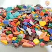 Mozaik soft nepravilnih oblik z bleščicami miks 1kg