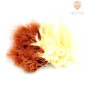 Barvno perje 20 kosov Rjavi miks