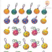 Epoksi nalepke - Novoletne kroglice