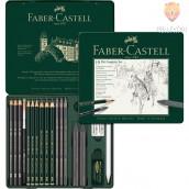 Grafitni set Pitt Graphite 19 kosov Faber-Castell