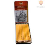 Set grafitnih svinčnikov za risanje in senčenje 12/1 Koh-I-Noor