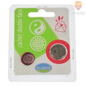 Obojestranski pečat, motiv yin-yang/sonce, 1 kos