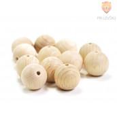 Lesene krogle 20 mm 12 kosov