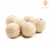 Lesene krogle 25 mm, 6 kosov