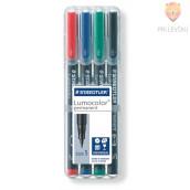 Set permanentnih flomastrov Lumocolor S 4/1 Staedtler
