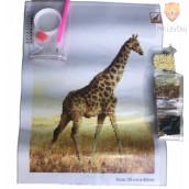 Slikanje s kristalčki Žirafa 30x40cm