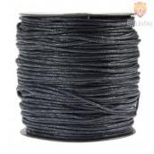 Tekstilna povoščena vrvica črna 2mmx45m