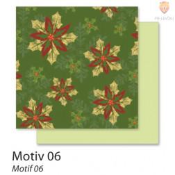 Design papir motiv Božič 06 5 kosov