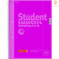 Zvezek Collegeblock s črtami spiralna vezava A4 pink 80-listni