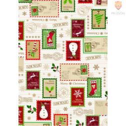 Set voščilnic s kuvertami Božič 25 kosov