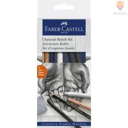 Set za risanje z ogljem 7 kosov Faber Castell