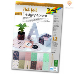 Designpaper blok Hot foil A4 12 listov