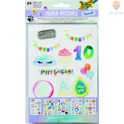 Kartonasti izrezki Paper-patches Aquarell  84-delni