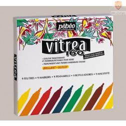 Set flomastrov za steklo VITREA160 9 kosov