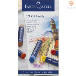 Oljni pasteli STUDIO Faber-Castell 12 kosov