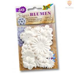 Papirnate rožice bele 30 kosov