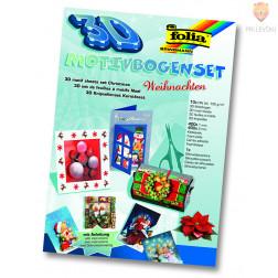 Set papirjev za izdelavo 3D božičnih motivov