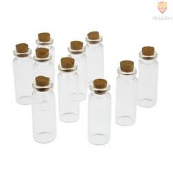 Steklenička s plutastim pokrovčkom 22x60mm 1 kos