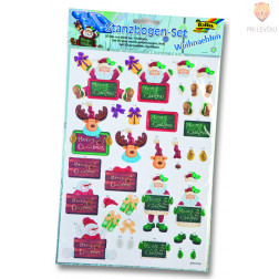 Set za izdelavo papirnih 3D dekoracij - novoletni motivi