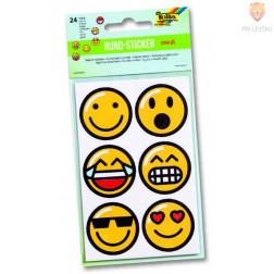 """Okrogle nalepke """"Emojis,"""" 24/1"""