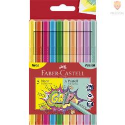Flomastri Grip neon in pastelne barve 10 kosov