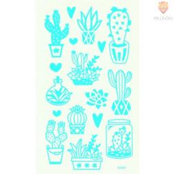Nalepke za transferno folijo Cactus 17 kosov+3 folije