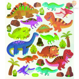 Nalepke Charming sticker Dinozavri in planeti 67 kosov