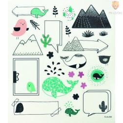Nalepke Charming sticker Etikete 42 kosov