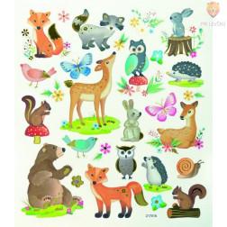 Nalepke Charming sticker Gozdne živali 56 kosov