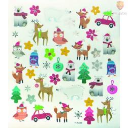Nalepke Charming sticker Novo leto 73 kosov