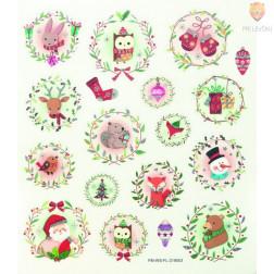 Nalepke Charming sticker Božič 61 kosov